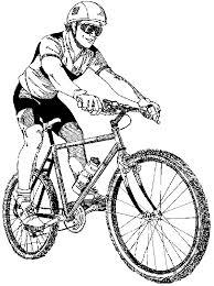 Moutain Bike Trails Clipart