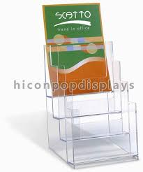 China Clear Acrylic Retail Store Fixtures Display Stands Counter Top Supplier