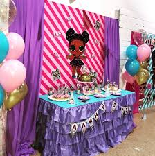LOL Surprise Dolls Birthday Party Purple Queen Backdrop