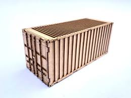 100 Shipping Container Model LX167N 20ft Kit Pack Of 2 N2mm1148
