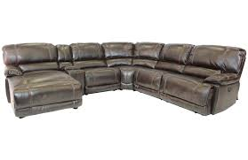 azul left facing reclining 6 piece chaise sectional mor