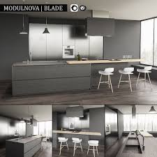 Kitchen Blade Render Vray Corona Archives Included