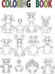 Cartoon Farm Animal Coloring Book