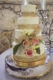 Buttercream Cake With Betty Crocker Texture And Burlap Ribbons