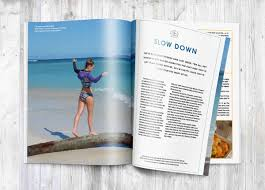 Surfgirl Magazine Inside Spread Slow Down Emma Jaulin Yoga Surf Girl