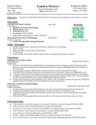 Examples Of College Resumes For Internships 13 Fresh Intern Resume Sample New Marketing