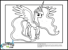 How To Draw My Little Pony Coloring Pages Princess Celestia In A Dress For Free