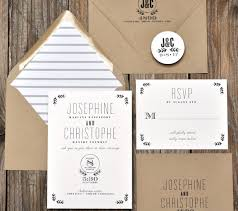 Black And White Rustic Wedding Invitations