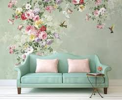 american floral wallpaper retro flower wall decal vintage