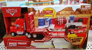 100 Mack Truck Playset Disney Pixar Cars 2 Story Set Collect Connect