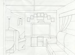 One Point Perspective Living Room Prev