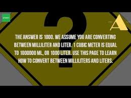 100 milliliters to liters how many millimeters are in 1 liter