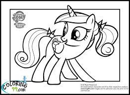 Young Princess Cadence Coloring Page MLP