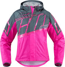 icon pdx 2 pink rain ladies jacket waterproof jacket all sizes