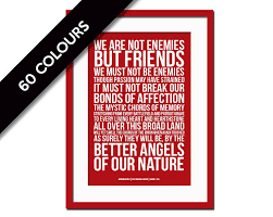 Abraham Lincoln Presidential Inaugural Speech Better Angels Of Our Nature Art Print