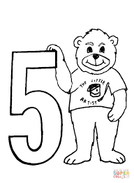 Click The Number 5 Coloring Pages To View Printable Version Or Color It Online Compatible With IPad And Android Tablets