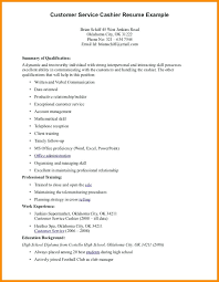 Example Of Cashier Resume Ii Spre Cashiers Sample For Cage Objective