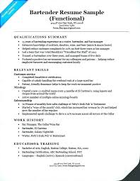 Bartender Resume Sample With Examples Manager For Create