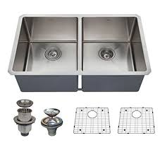 Commercial Undermount Sink by Vapsint Commercial 32 Inch 18 Gauge 304 Stainless Steel Farmhouse