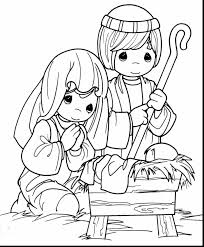Unbelievable Precious Moments Jesus Coloring Pages With Cute Christmas And Reindeer