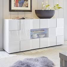 möbel akut sideboard drama 2 anrichte kommode weiß hochglanz 3d optik lackiert wohnzimmer