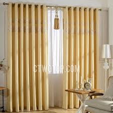 linen and polyester blackout living room light yellow curtains