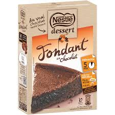 préparation gâteau fondant chocolat nestlé dessert nestlé dessert