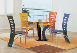 Upholstered Dining Chairs Set Of 6 by Coaster Modern Dining Contemporary Dining Room Set With Glass