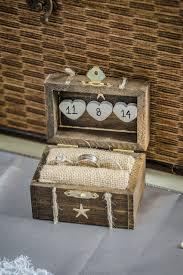 Rustic Wedding Ring Box Engagement Beach