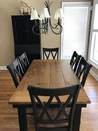 Farmhouse Dining Room Tables Table With Metal Chairs From Homespun Signs On
