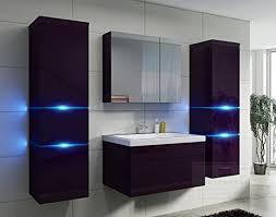 badezimmer aubergine hochglanz mit siphon echt lackiert
