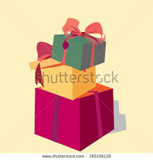 A Pile of Gift Boxes Christmas or Birthday Present