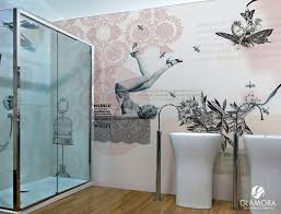 wohnideen wandgestaltung maler badgestaltung mit tapeten