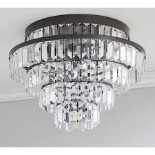 Pottery Barn Bedroom Ceiling Lights pottery barn gemma crystal tiered flushmount 320 liked on