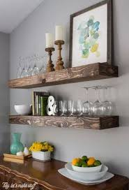 shanty2chic dining room floating shelves by myneutralnest