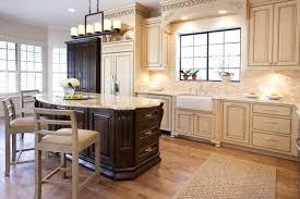 Antique White Kitchen Design Ideas by Antique White Kitchen Cabinets With Dark Wood Floors Monsterlune