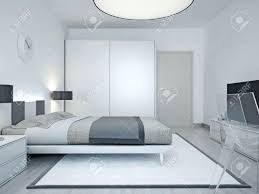chambre avec lit noir intérieur de la maison lit noir design bout de en pu moira 160