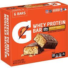 Gatorade Recover Bar 20 Grams Of Protein Chocolate Caramel 169 Oz 6