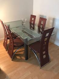 Glass And Chrome Dining Table With 5 Chairs | In Rochdale, Manchester |  Gumtree Hever Ding Table With 5 Chairs Bench Chelsea 5piece Round Package Aqua Drewing And Chair Set By Benchcraft Ashley At Royal Fniture Trudell Upholstered Side Signature Design Dunk Bright Lawson Piece Includes 4 Liberty Darvin Barzini Black Leatherette Coaster Value City Pc Kitchen Set A In Buttermilk Cherry East West The District Leaf Intercon Wayside Grindleburg Vesper Round Marble Ding Table Piece Set Brnan Amazoncom Tangkula Pcs Modern Tempered