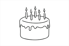 cake outline graphics for birthday cake outline clip art graphics outline images of cupcake