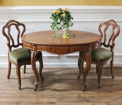 Antique French Dining Table & Chairs. Walnut, C.1880. From ...