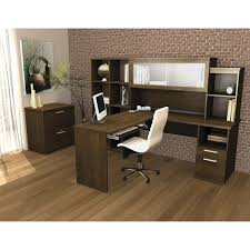 Bestar L Shaped Desk by Sutton L Shape Desk With Hutch Lateral File And Cubby Bookcase