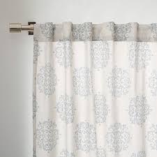 Fancy West Elm Medallion Shower Curtain Designs with Cotton Canvas