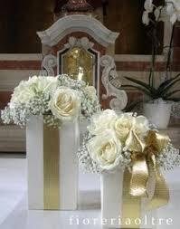Fioreria Oltre 50th wedding anniversary Golden anniversary White