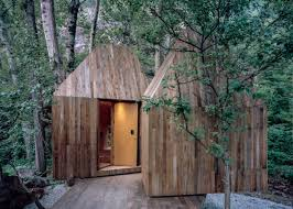 100 Tree House Studio Wood Wee Completes Crowdfunded Treehouses Next To A Stream