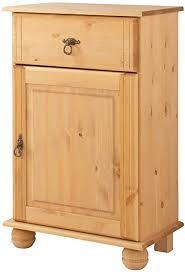 loft24 a s 1 trg kommode kiefer massivholz schubladenkommode schrank wohnzimmer beistellkommode kolonialstil 1 schublade gebeizt geölt