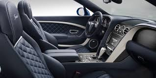 performance Continental GT Speed Convertible front cabin with leather interior and quilted seats