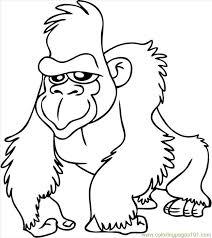 Cartoon Gorilla Coloring Pages