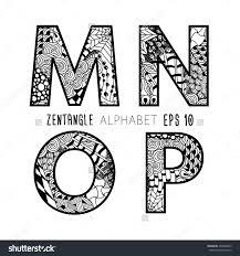 Zentangle Letters Stock Vectors & Vector Clip Art