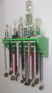 Lime Green Trendy Trophy Display For Trophies And Medals Medal Holder